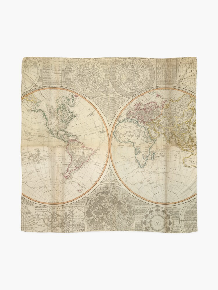 Alternate view of Vintage Map of The World (1799) 2 Scarf
