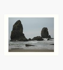 Outcropping off Cannon Beach Art Print