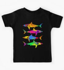 Colorful Sharks Kids Tee