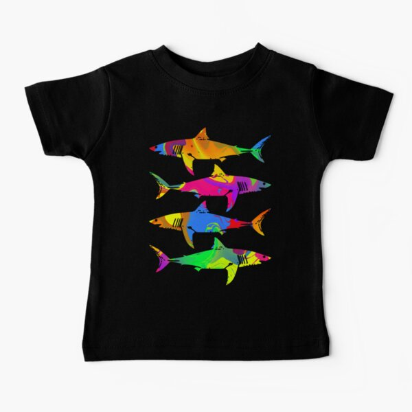 Colorful Sharks Baby T-Shirt
