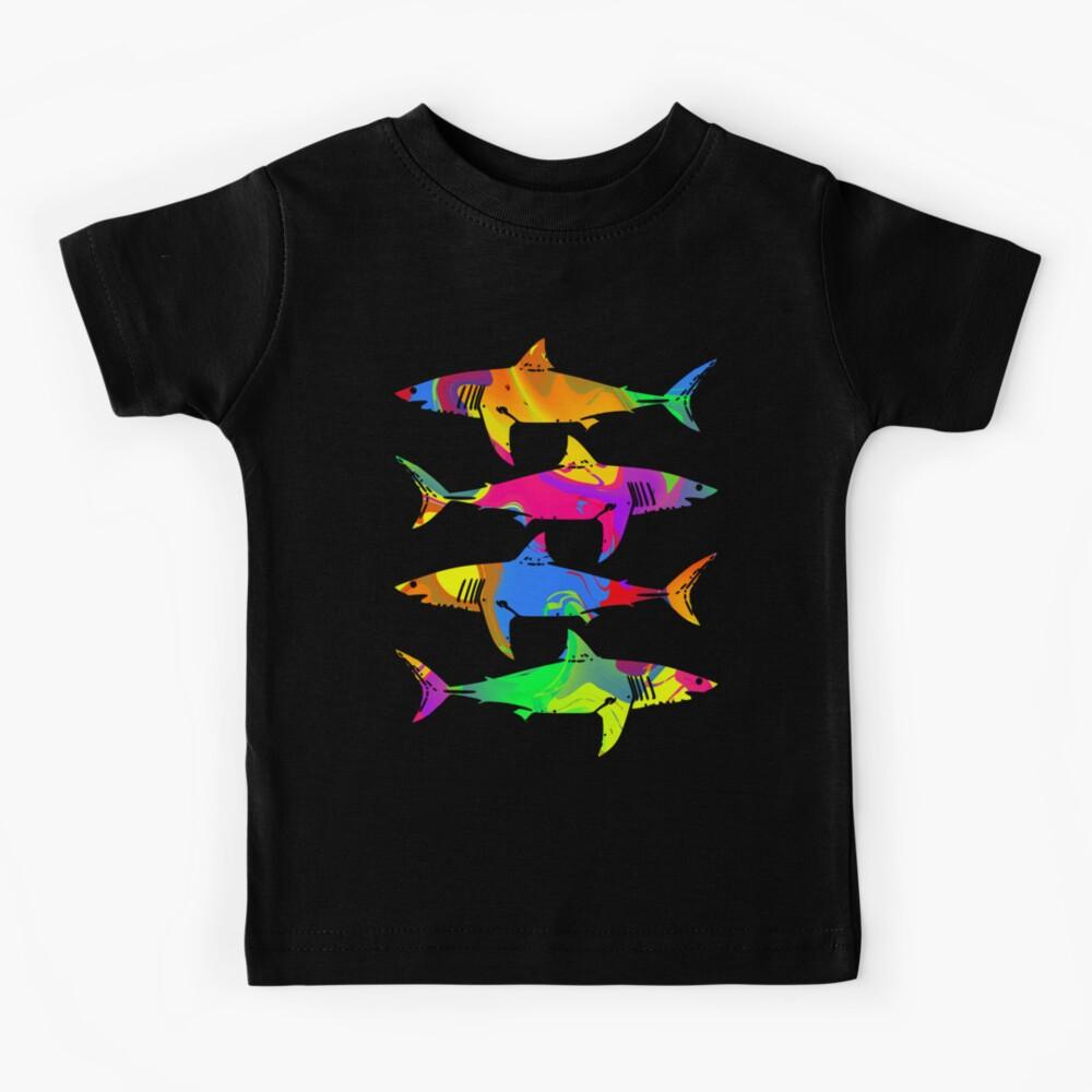 Colorful Sharks Kids T-Shirt