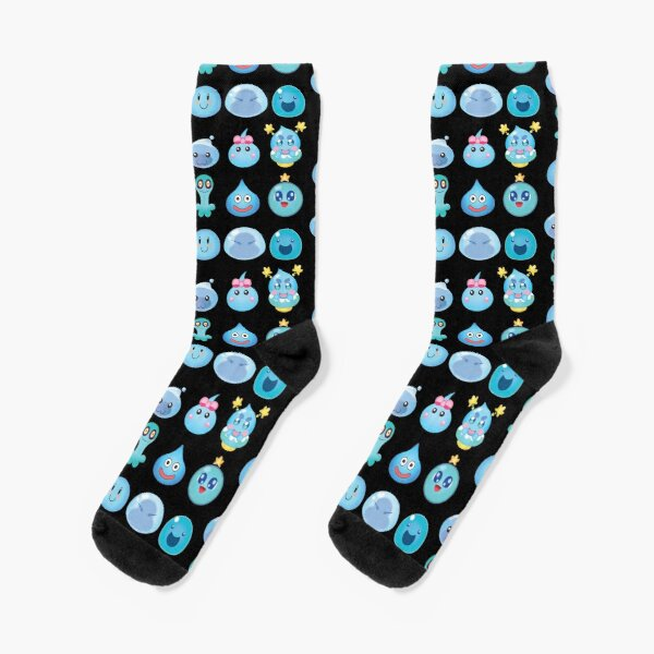 Blue Slime Buddies Socks