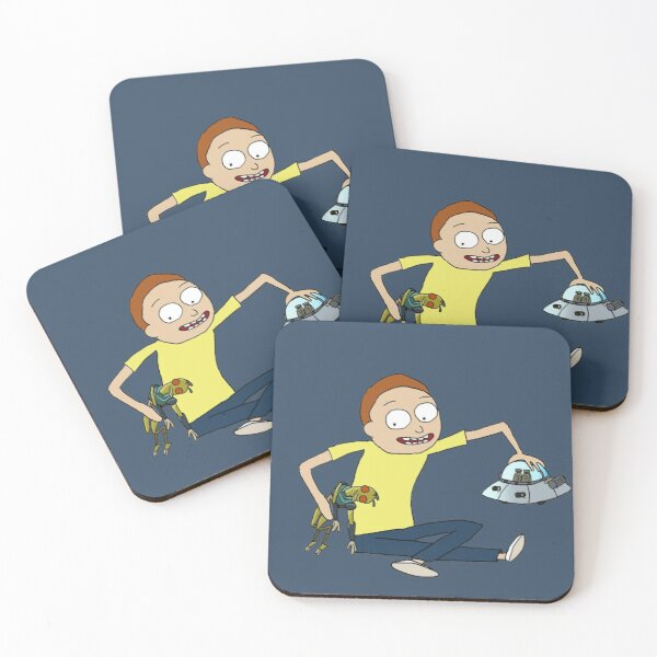 Morty and Krombopulos Michael Coasters (Set of 4)