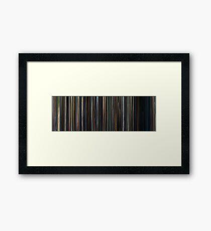 Moviebarcode: Adaptation. (2002) Framed Print