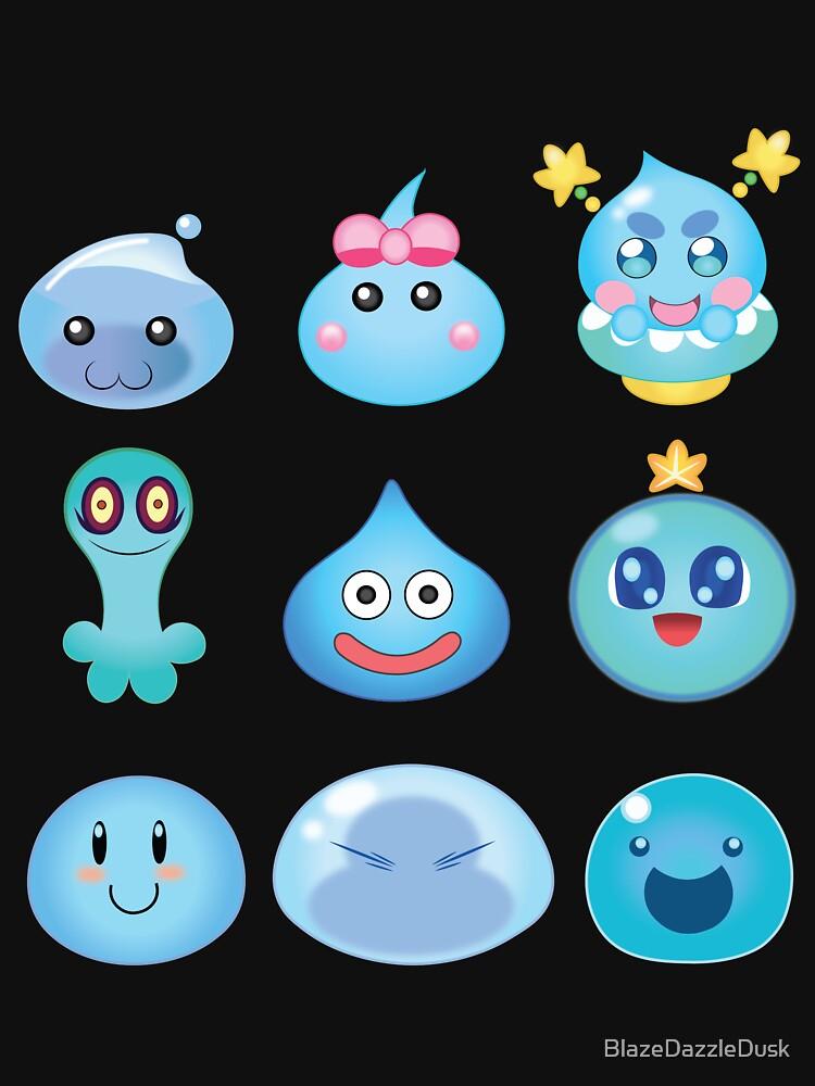 Blue Slime Buddies by BlazeDazzleDusk