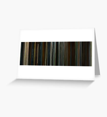 Moviebarcode: 28 Days Later (2002) Greeting Card