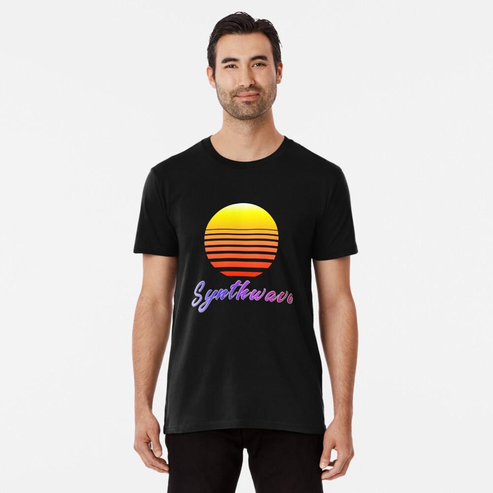 Synthwave Sun Premium T-Shirt