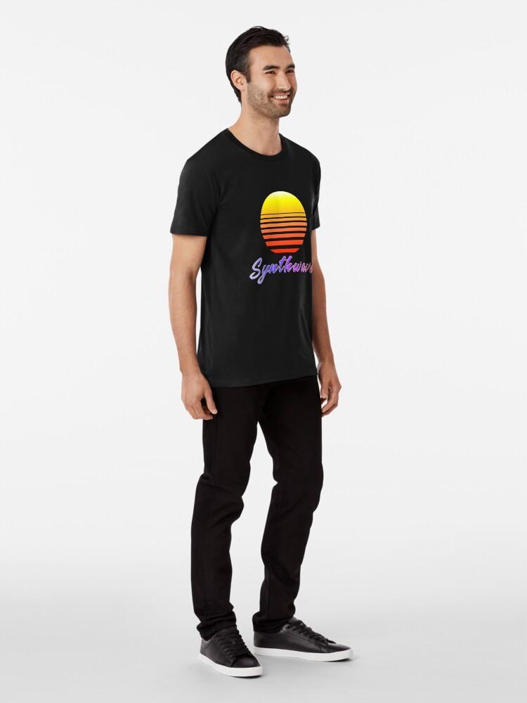Alternate view of Synthwave Sun Premium T-Shirt