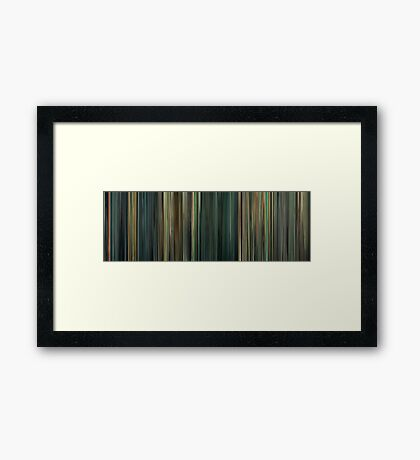 Moviebarcode: Limitless (2011) Framed Print