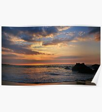 Kua Bay Sunset Poster