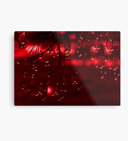 Diamonds of Red Droplets (best viewed larger) Metal Print