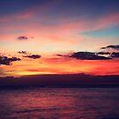 Glorious Oahu Sunset by Kahlia Huddleston