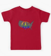 Peace in the US T-Shirt Kids Clothes