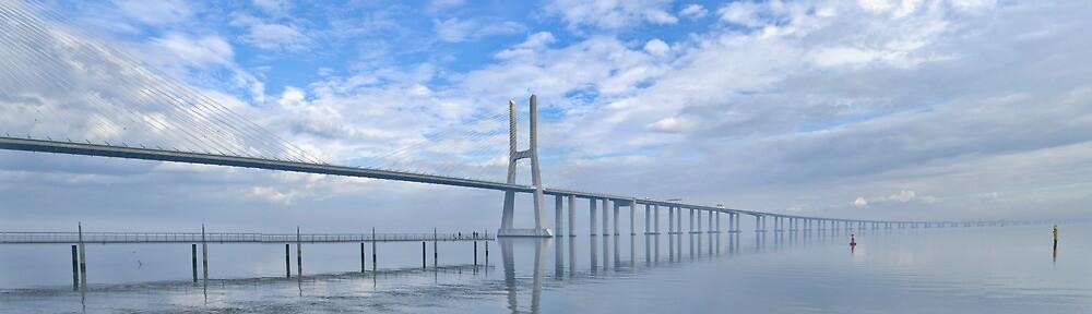Vasco da Gama Bridge Panorama by Paulo Maninha