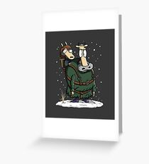Bran's Modern Life Greeting Card