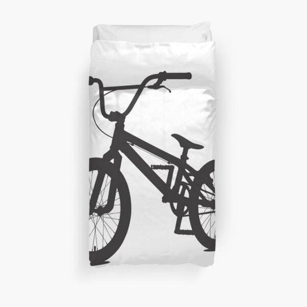 BMX BIKE. Off-road sport bicycle. Stunt riding. Duvet Cover
