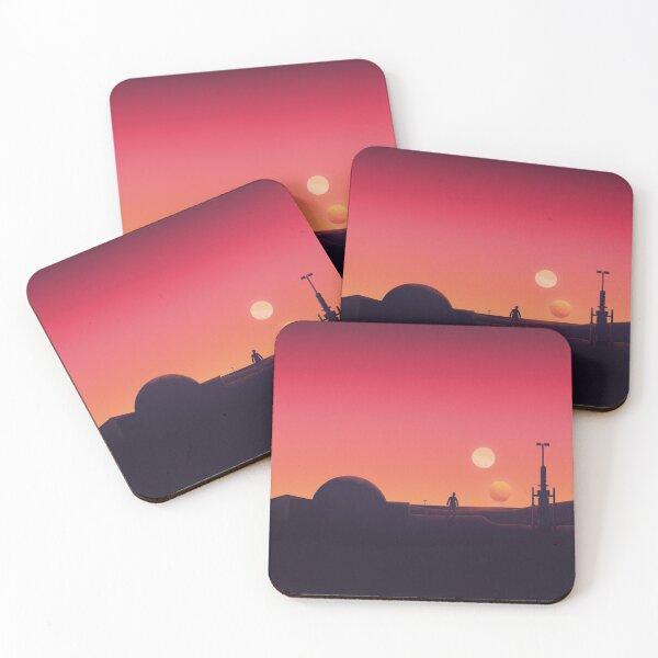 Binary Sunset Coasters (Set of 4)