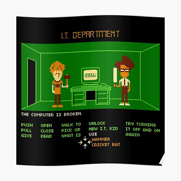 Maniac IT Department Poster