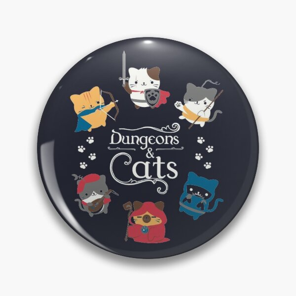Dungeons and Cats Pin