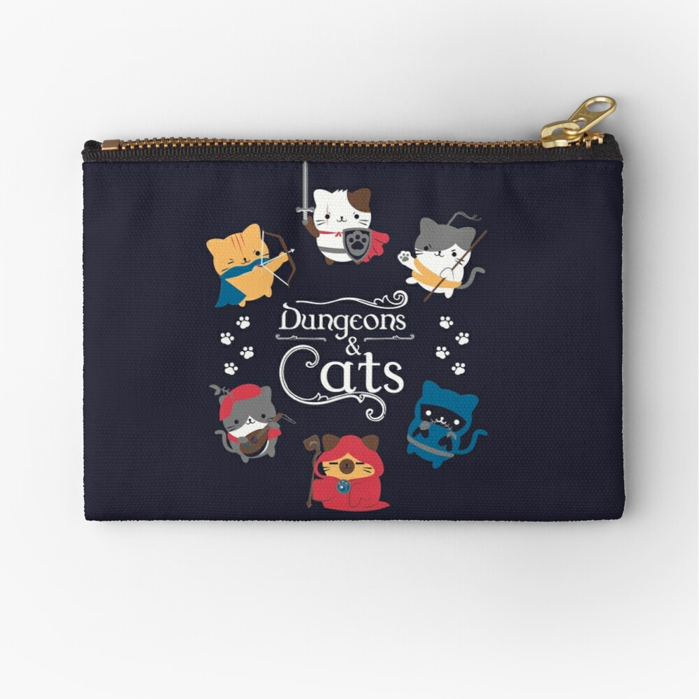 Dungeons and Cats Zipper Pouch