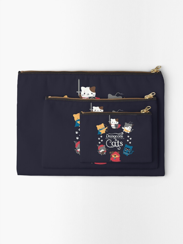 Alternate view of Dungeons and Cats Zipper Pouch