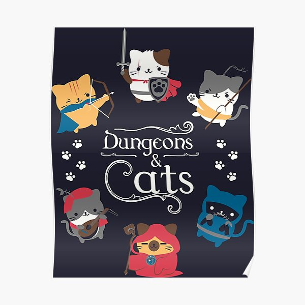 Dungeons and Cats Poster