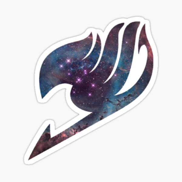 Fairy Tail Logotipo Galaxy Pegatina