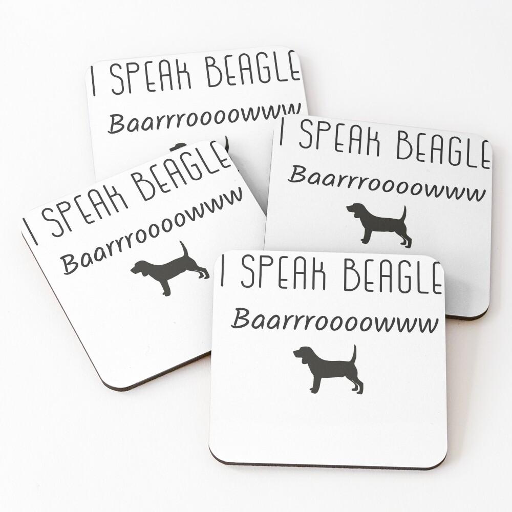 Speaking Beagle Coasters (Set of 4)