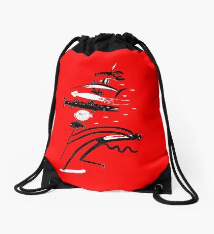 Fish Kabob Drawstring Bag