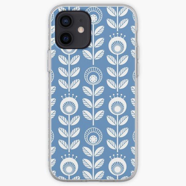 SCANDI GARDEN 01-5, white on blue iPhone Soft Case