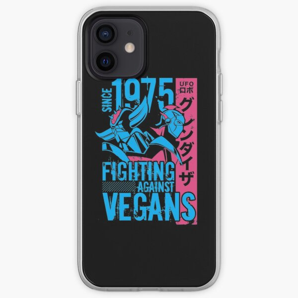 046b Grendizer Vegan Dark iPhone Soft Case