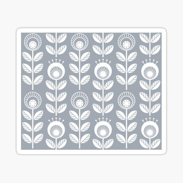 SCANDI GARDEN 01-6, blanc sur gris argenté Sticker
