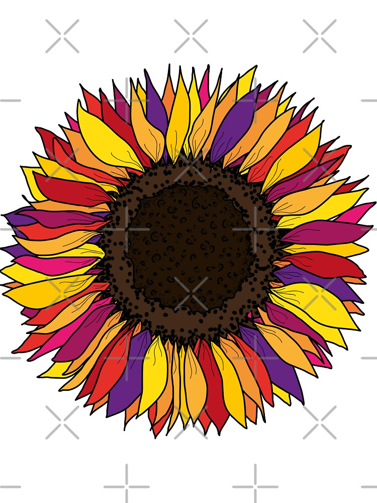 Sunflower Pin Roblox Colorful Sunflower Hand Drawn Kids T Shirt By Savanamms6 Redbubble