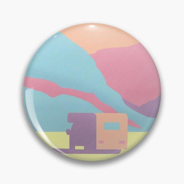 Caravan in the Mountains Illustration Pin