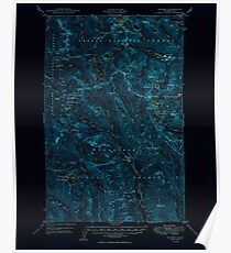 USGS Topo Map Washington State WA Holden 241543 1949 62500 Inverted Poster