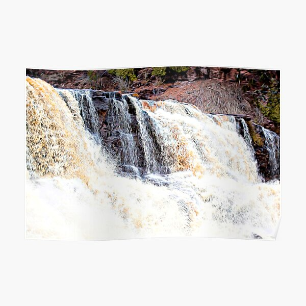 Abstracted Gooseberry Falls Poster