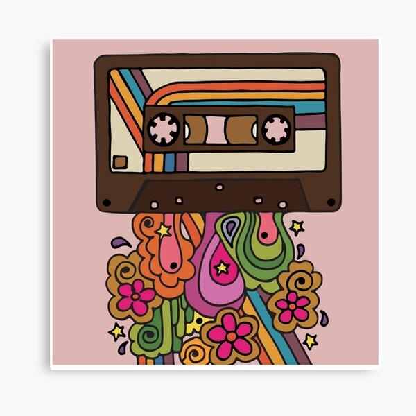 Retro Spectrum Canvas Print