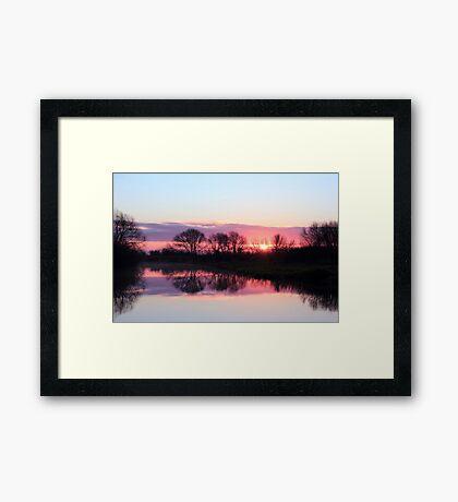 A Moment of Sunrise Framed Print