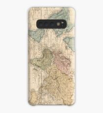 Vintage Map of The World (1823) 2 Case/Skin for Samsung Galaxy