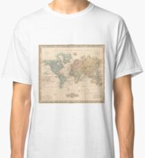 Vintage Map of The World (1823) 2 Classic T-Shirt