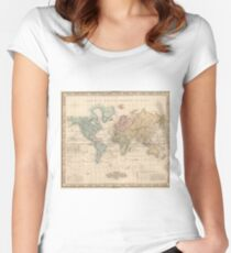 Vintage Map of The World (1823) 2 Fitted Scoop T-Shirt