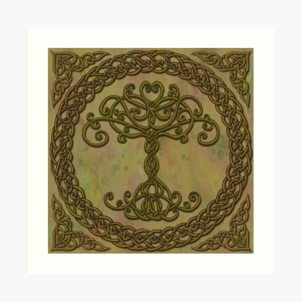 Árbol celta de la vida I Lámina artística