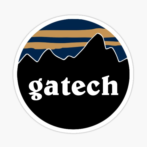 GA Tech mountains sticker Sticker