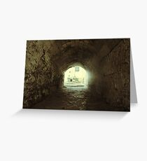 The light at the end of the tunnel. Greeting Card