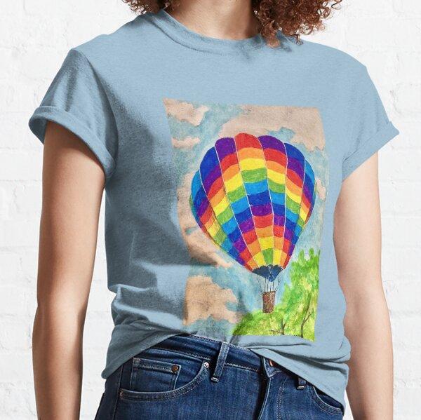 rainbow hot air balloon Classic T-Shirt