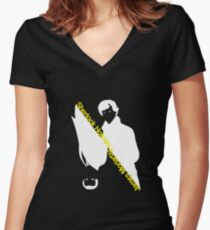 Sherlock Holmes/James Moriarty Women's Fitted V-Neck T-Shirt