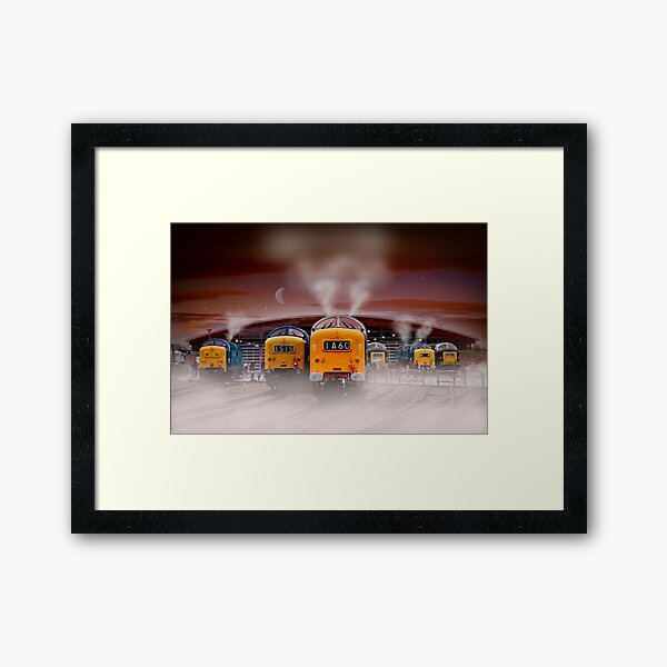 Napiers in the Mist Framed Art Print