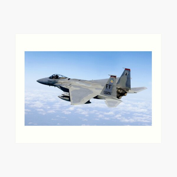 Mcdonnell douglas f 15 mini skirts F 15 Eagle The Aircraft Is A Mcdonnell Douglas F 15c 35 Mc Eagle S N 83 0026 Art Print By Tomsredbubble Redbubble