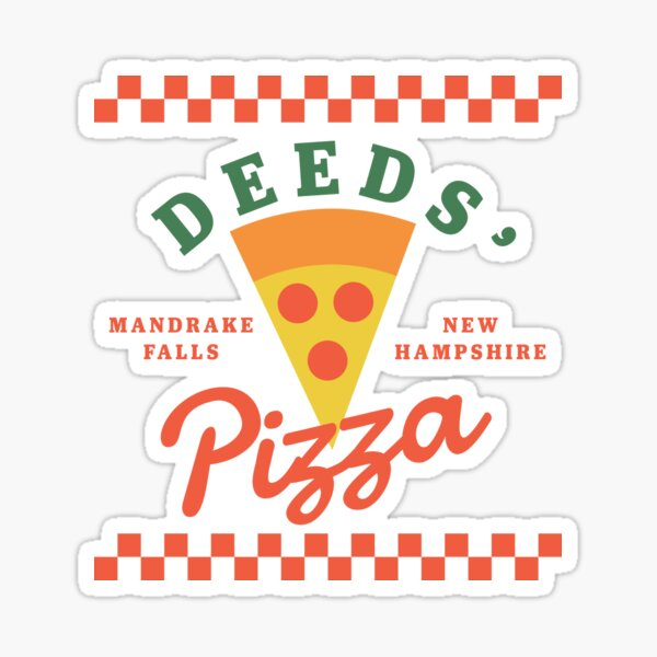 Deeds' Pizza Mandrake Falls New Hampshire Sticker