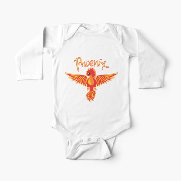 Phoenix With Title Long Sleeve Baby One-Piece